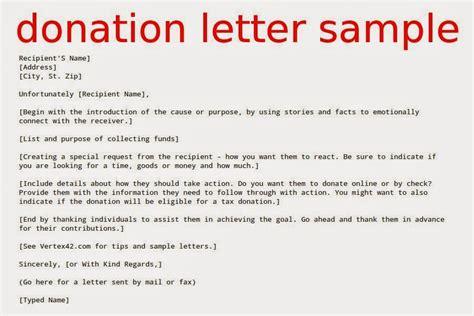 donation letter sample samples business letters