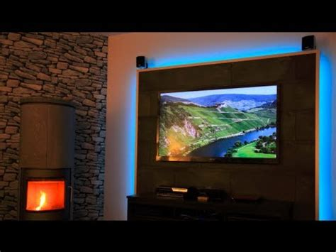 wohnzimmer tv wand led tv wand selber bauen
