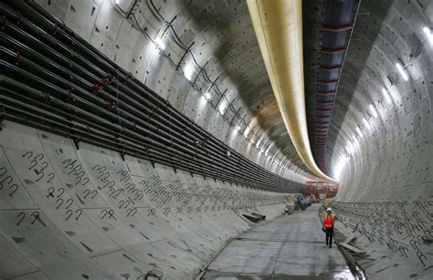 Highway 99 Tunnel's Doubledecker Roadway Begins To Take
