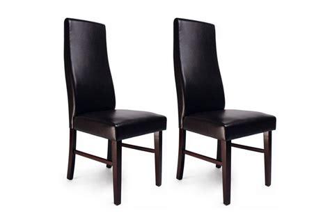 chaise de salle a manger en bois chaise de cuisine salle à manger bois wengé jagoda lot