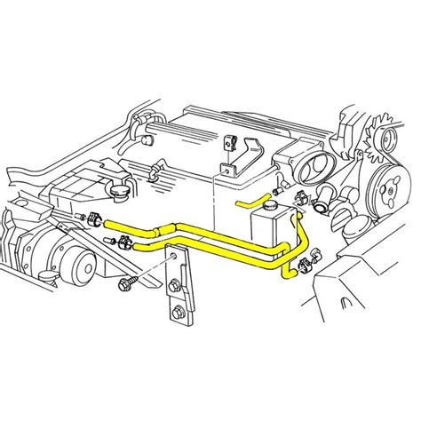 Corvette Engine Cooling System Rubber Hose Set