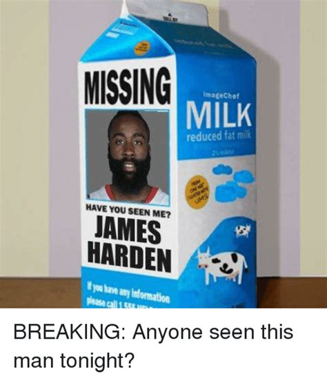 Missing Imate Chef Milk Have You Seen Me? Harden Breaking
