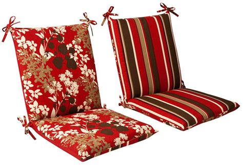 outdoor patio furniture chair cushion red reversible ebay