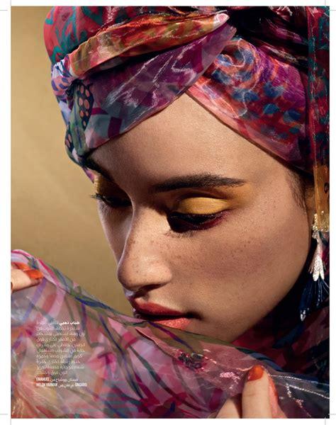 khadijha red thunder bold eyeshadow editorial vogue arabia fashion  rogue