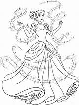 Cinderella Coloring Pages Print Little Cartoon sketch template