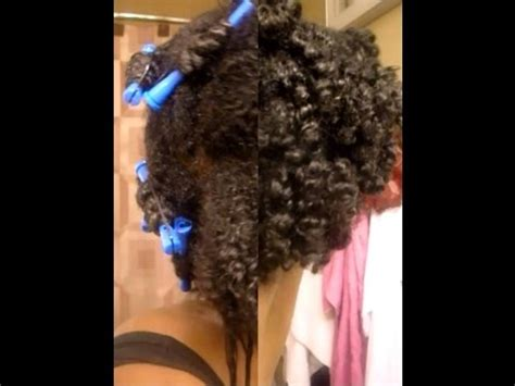 Transitioning To Natural Hair Cold Wave Rod Set Hairstyle