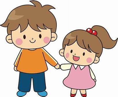 Clipart Hugging Sibling Clip Sister Transparent Older