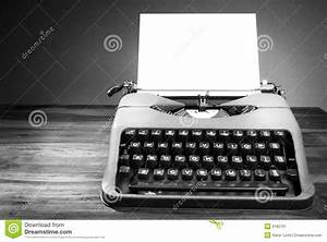 Old Typewriter In Black And White Stock Image - Image of ...