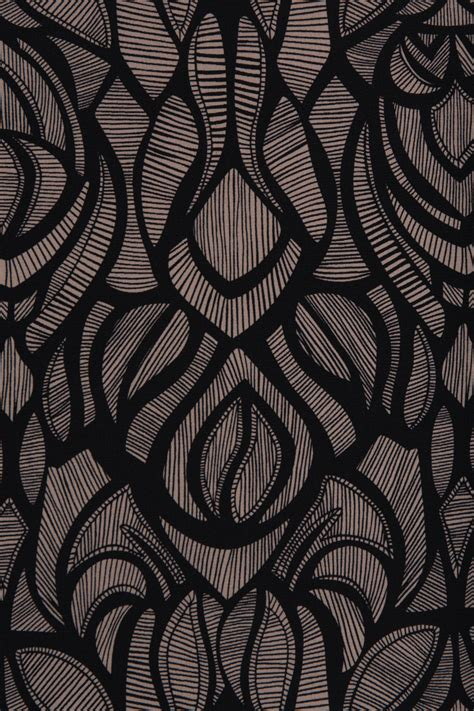Texture Designs by Black And Taupe Silk Fabric