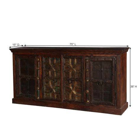 Large Buffet Cabinet by Classic Gates Mango Reclaimed Wood Large Buffet