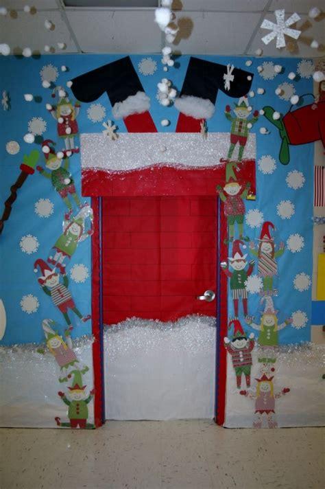 santa stuck classroom door decoration