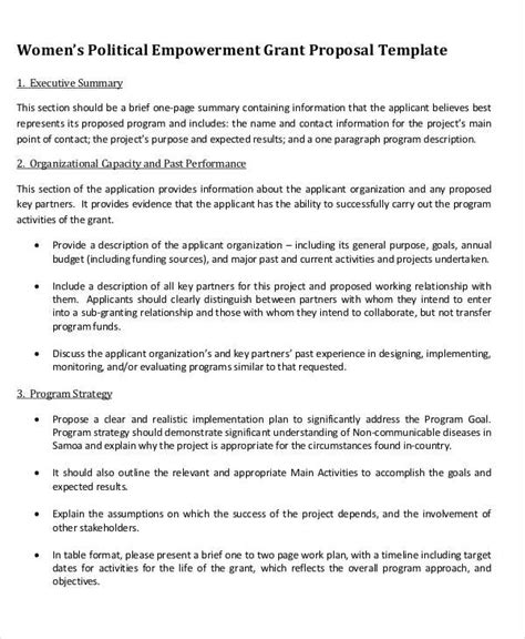 grant proposal examples samples  word pages