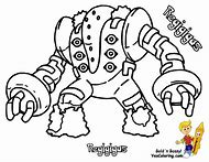 Pokemon Regigigas Coloring Page
