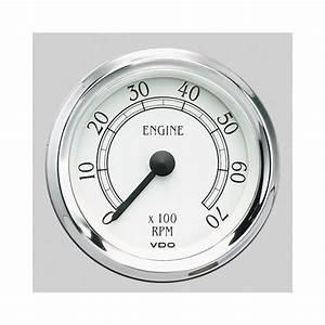 Vdo Cockpit Royale Series Tachometer 0 8 U0026quot  Dia In