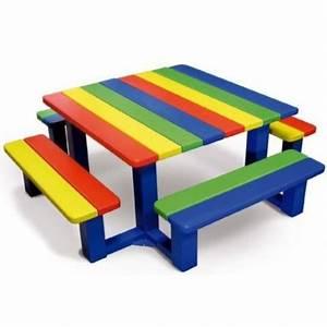 Table Enfant Exterieur : mobilier urbain enfants table pique nique enfants ~ Melissatoandfro.com Idées de Décoration