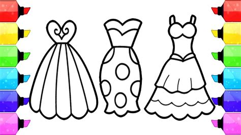 dress coloring pages    clipartmag