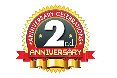 2nd year anniversary 2nd anniversary logo vector template free downloads naveengfx