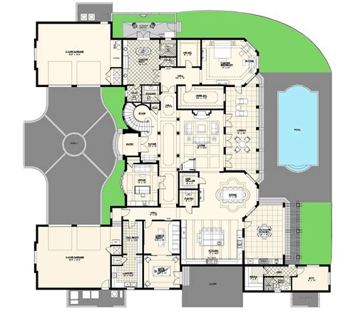 luxury home plans villa marina floor plan alpha builders