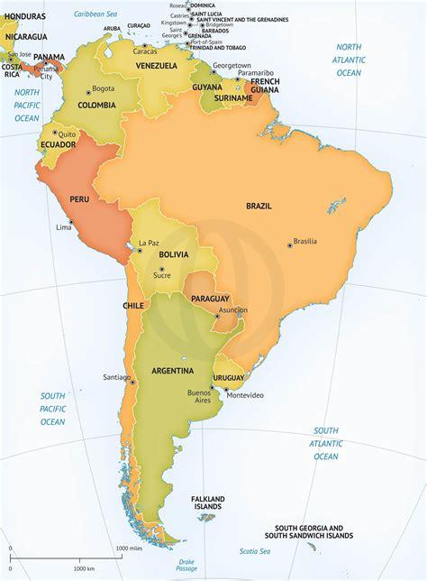 vector map  south america graphics creative market