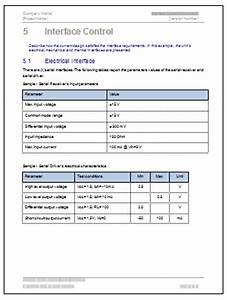 Interface control document template form checklist for Interface design document template