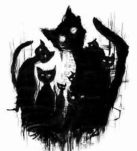 Halloween black cat art | Cats 3 | Pinterest