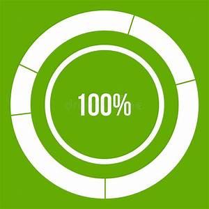 Diagram Pie Chart Icon Green Stock Vector