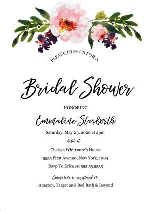 Bridal Shower & Bachelorette Invites