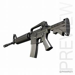 colt m4a1 carbine assault rifle c4d