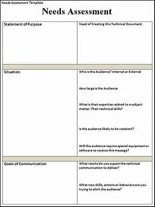 Needs Assessment Template