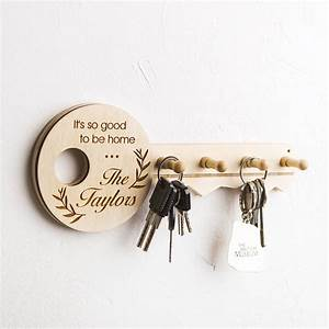 Personalised, Wooden, Key, Holder, By, Natural, Gift, Store