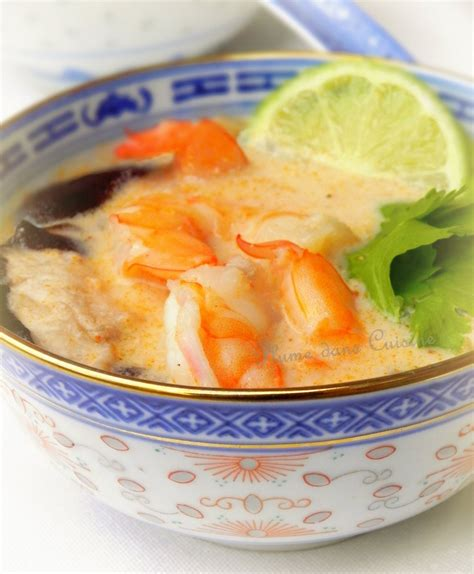 plume cuisine soupe thaïe au lait de coco une plume dans la cuisine