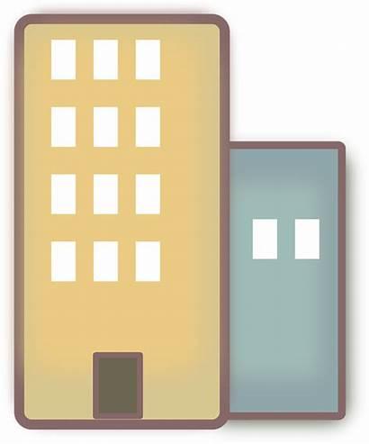 Apartments Buildings Clipart Clip Apartment2 Construction Graphic