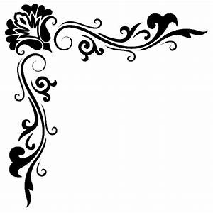Vinilo Decorativo Esquina Floral 3 - Wallvi.com
