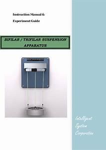 Bifilar Trifilar Suspension Apparatus