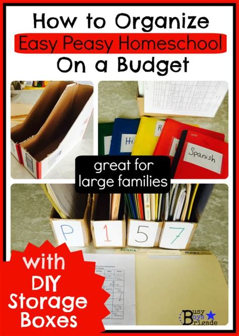 How To Organize Easy Peasy Homeschool On A Budget With Diy