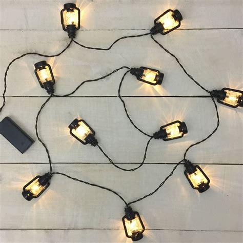 black lantern led string lights battery operated