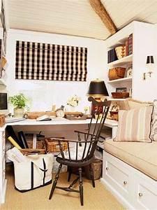 work, in, coziness, , 20, farmhouse, home, office, d, u00e9cor, ideas