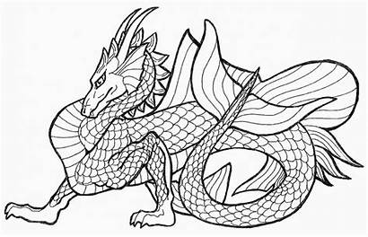 Coloring Dragon Pages Chinese Printable