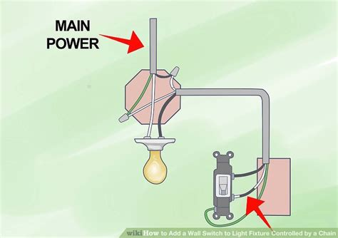 how to add a wall switch to light fixture controlled by a