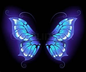 Glowing, purple butterfly wings on a ... | Stock vector ...