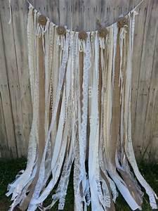 Rideau Toile De Jute : wedding quotes toile de jute dentelle guirlande rideau ~ Farleysfitness.com Idées de Décoration