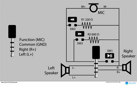 Audio Pin Headset Pinout Pushbuttons Interface