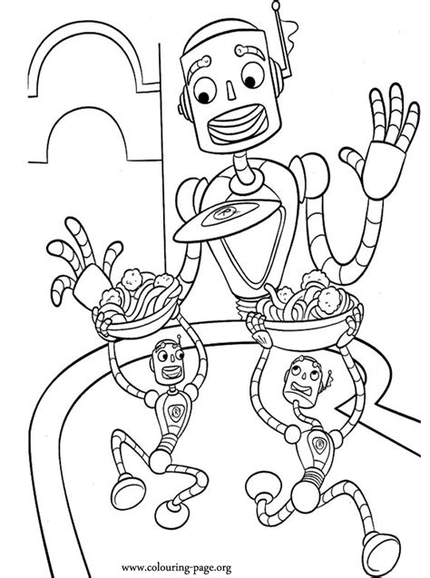 meet  robinsons carl  robot coloring page