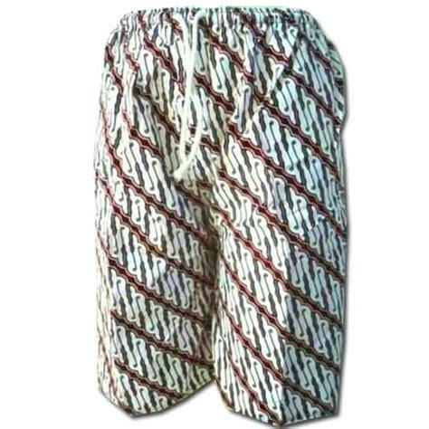 celana kolor pendek kain batik pusaka dunia