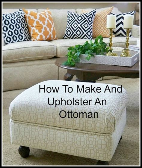 how to upholster an ottoman coffee table a stroll thru life how to make upholster an ottoman