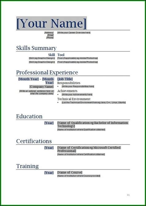 Are There Any Free Resume Builders by Best Resume Exle Ideas