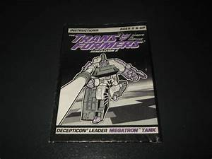 Transformers G2 Original Vintage Megatron Instructions