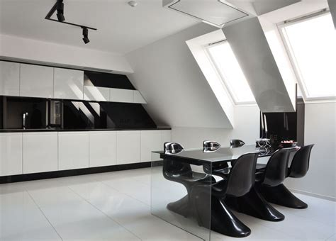 black and white home interior cold and minimalist interior in black and white home