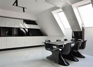 Cold and Minimalist Interior in Black and White