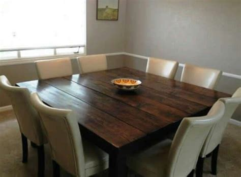 square farmhouse dining table square dining room table